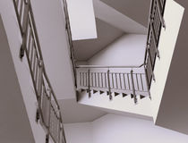Staircase modern interior Stock Photos