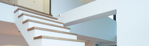 Staircase in modern interior Royalty Free Stock Photo