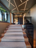 Staircase in a modern villa Royalty Free Stock Images