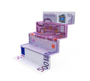 Staircase Money Origami Stock Image