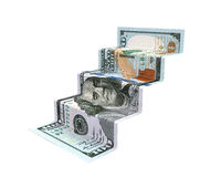 Staircase Money Origami Royalty Free Stock Photography