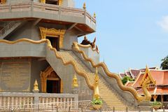 Staircase with Naka leading to room of pagoda Royalty Free Stock Images