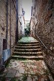 Staircase in a Narrow Old City Street in Italy. Tuscany. Staircase in a narrow old city street in Tuscany, Italy Stock Images