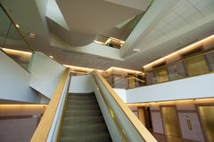 Staircase in office building. Staircase in lobby of a commercial or office building Royalty Free Stock Photography
