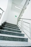 Staircase in office building. Staircase - emergency exit in office building royalty free stock photo