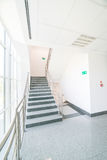 Staircase in office building. Staircase - emergency exit in office building stock photo