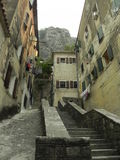 Staircase in an old courtyard in Montenegro Royalty Free Stock Photo