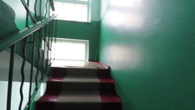Staircase old house stock footage