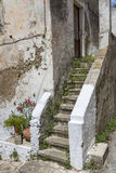 Staircase on a old house in Greece Stock Photography
