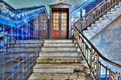 Staircase in an old stylish plant Royalty Free Stock Photography