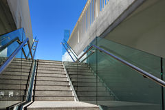 Staircase at outdoor. Staircase with blue sky at outdoor Royalty Free Stock Photos