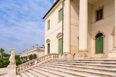 Staircase of a Palladian villa. stock image