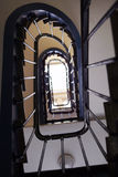 Staircase in paris. Interior of a staircase in paris Royalty Free Stock Photo