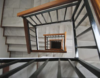 Staircase perspective. Perspective of stairs in a block of flats Royalty Free Stock Photos