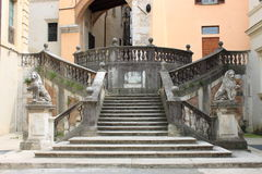 Staircase of Pianciani Square in Spoleto Royalty Free Stock Photography