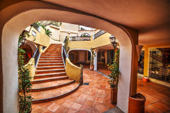 Staircase in Porto Cervo. Sardinia Royalty Free Stock Photography