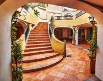 Staircase in Porto Cervo. Sardinia Stock Images