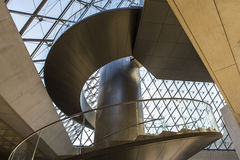 Staircase of the pyramid, The Louvre, Paris, France Stock Photography