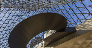 Staircase of the pyramid, The Louvre, Paris, France Royalty Free Stock Images