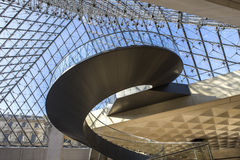 Staircase of the pyramid, The Louvre, Paris, France Royalty Free Stock Image
