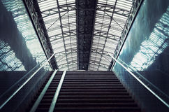 Staircase at a railway station Stock Photos