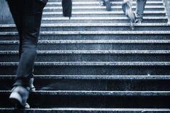 Staircase in rain Stock Photo