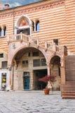 Staircase of reason in courtyard  the Palazzo della Ragione Stock Image