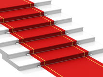 Staircase with red carpet Stock Image