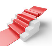 Staircase with red carpet Royalty Free Stock Photos