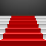 Staircase with red carpet Royalty Free Stock Images