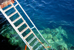 The staircase for the reef Royalty Free Stock Image