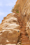 Staircase in rock Stock Photography