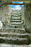 Staircase in the ruins of the ancient cave city Stock Image