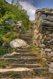 Staircase in the ruins of the ancient fortress Stock Photos