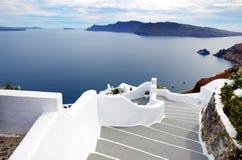 The staircase on Santorini island Royalty Free Stock Image