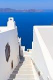 Staircase on Santorini island Stock Photo