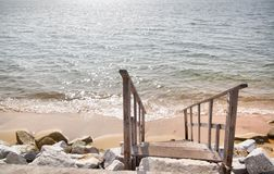 Staircase and sea Stock Images
