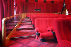 Staircase and seats in picture show hall Stock Photos
