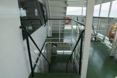 Staircase in the ship Stock Photos