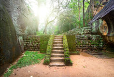 Staircase on Sigiriya Stock Photography