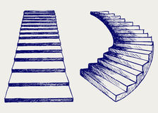 Staircase sketch Royalty Free Stock Image