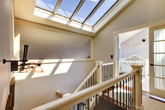 Staircase with skylight and baby room. Stock Photography