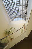Staircase and skylight stock photo