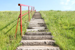Staircase on a small hill Stock Photography