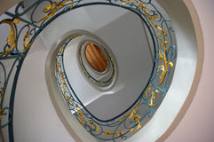 Staircase in spiral art nouveau. Stock Images