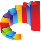 Staircase Step Column Chart. An image of a 3d staircase step column chart Royalty Free Stock Image