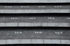 Staircase step with numbers at Kuching Town Mosque Stock Images