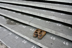Staircase step with numbers at Kuching Town Mosque Royalty Free Stock Image