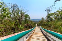Staircase. He stepped up Ubon Ratana Dam in Thaiand royalty free stock image