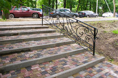 Staircase with steps of paving slabs Stock Images